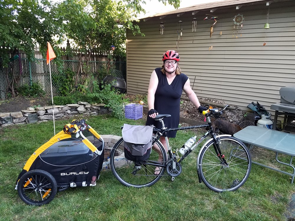 KJ  I teach bike riding and bike riding skills because human-powered movement is critical to a healthy, connected community.