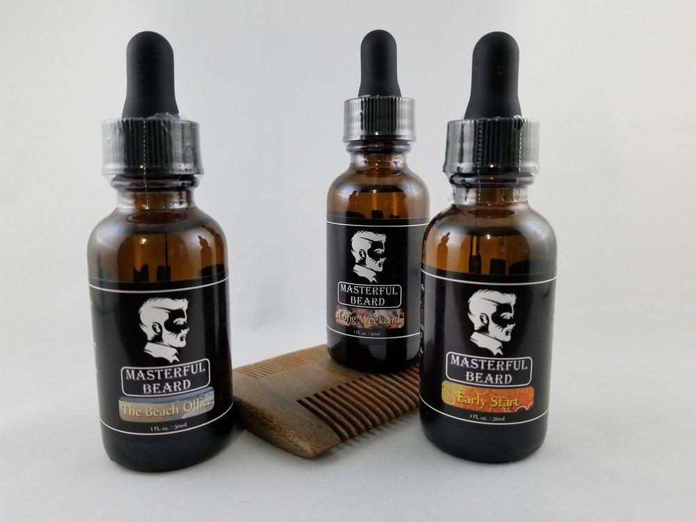 beach Office, Long Weekend, Early Start Beard oils