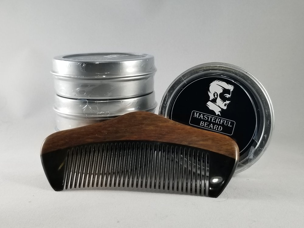 buffalo horn beard comb and balm