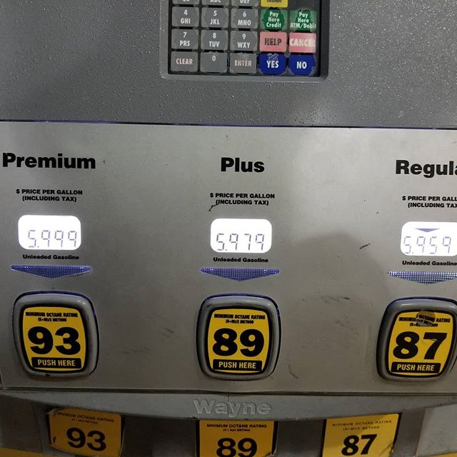 "Here is a little anecdote about attention to detail. ""Pay attention to the details!"" I'm just glad I saw it before I started pumping, damn.  #masterfulbeard #lifeprotip #attentiontodetail #overpriced #gasprices #goingoutofbusinessinahurry"