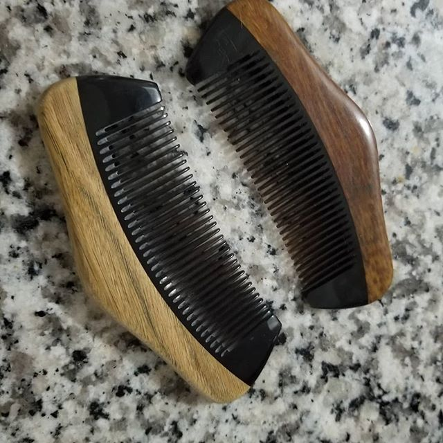 Left: brand new comb Right: 2 months of use  It's amazing the grain and texture that comes out of these sandalwood Combs after they have absorbed some oil.  #masterfulbeard #beardcare #beardcomb #improved #ecommerce #smallbusiness #entrepreneur