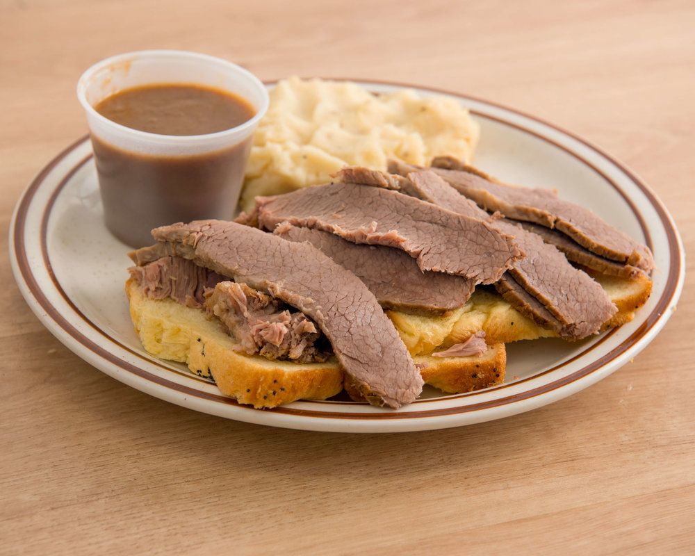 OPEN FACE BRISKET $17.50