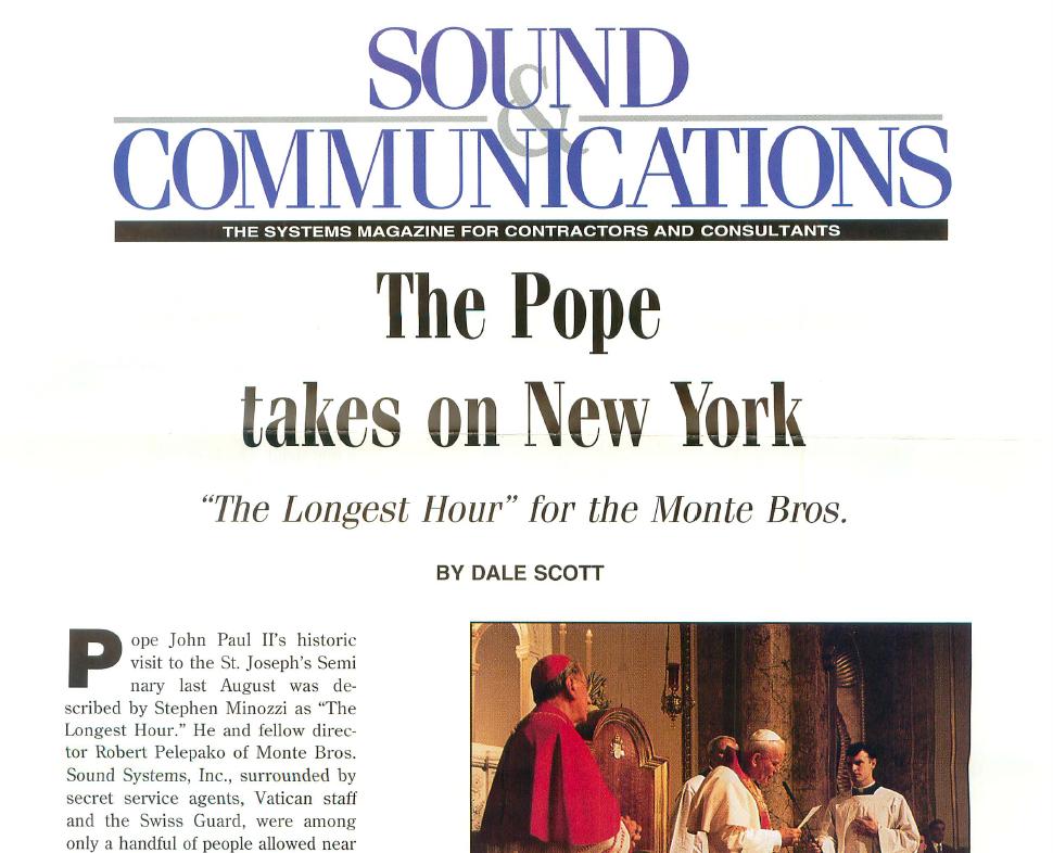 Pope John Paul II visits New York in 1996 -
