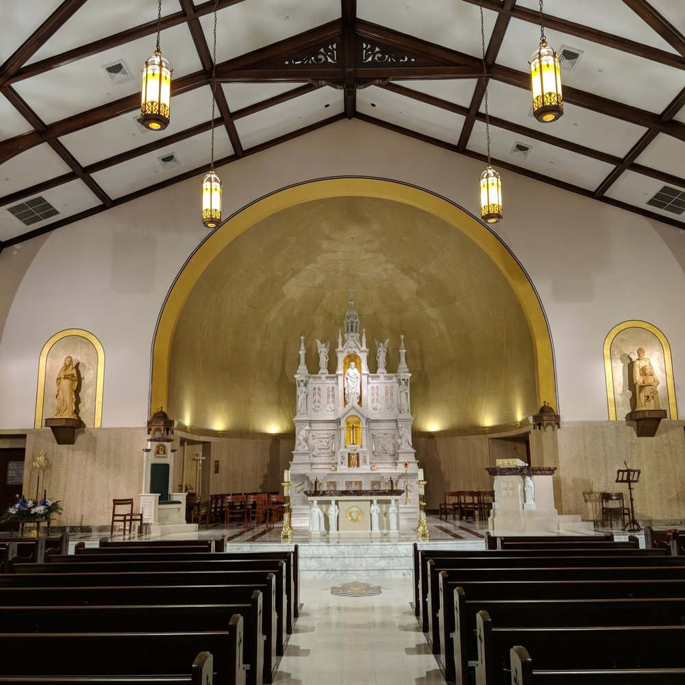 MEDIUM CHURCHES - Blessed Sacrament, S.C | Cathedral of the Incarnation, Garden City | Sacred Heart Cathedral, Charleston, W.V.