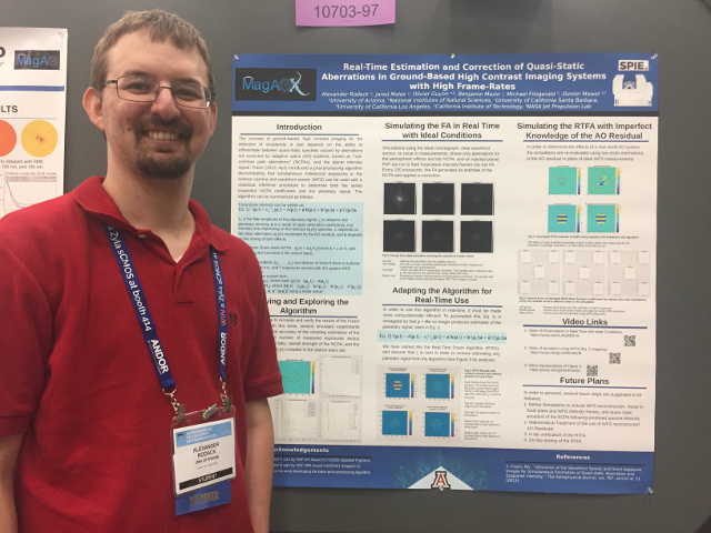Photo: Alex at the 2018 SPIE Astronomical Telescopes + Instrumentation conference in Austin, TX. Source  here .