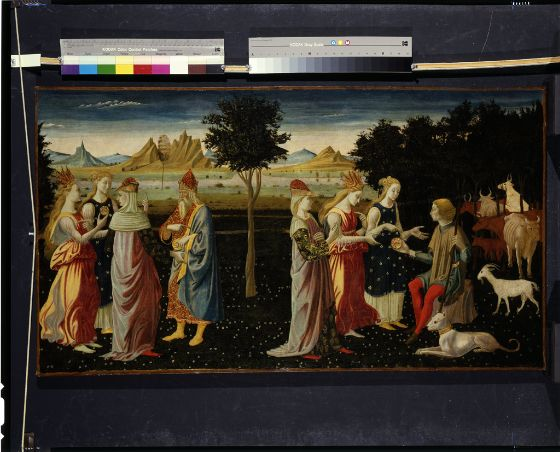 The Master of the Argonaut Panels, The Judgment of Paris, c. 1480 Tempera on panel, transferred to canvas