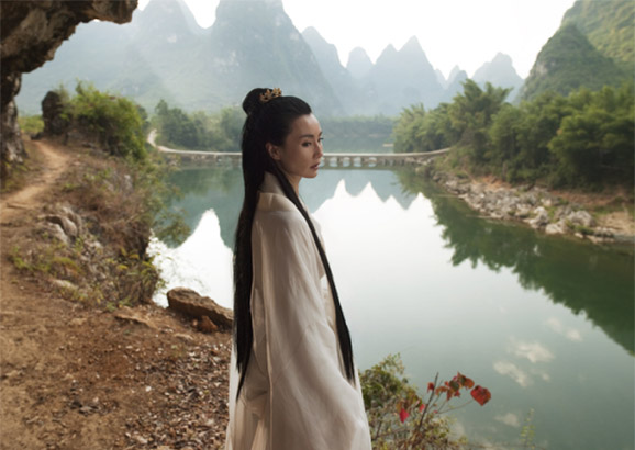 Maggie Cheung in a still from The Ten Thousand Waves