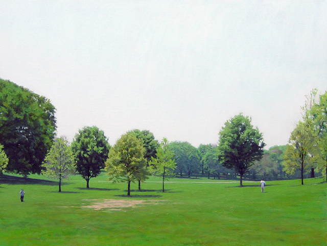 Park, Oil on Panel, 12 x 16 inches, 2011
