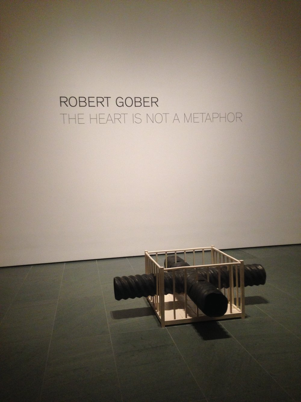 Entrance to Robert Gober's mid-career retrospective at MoMA