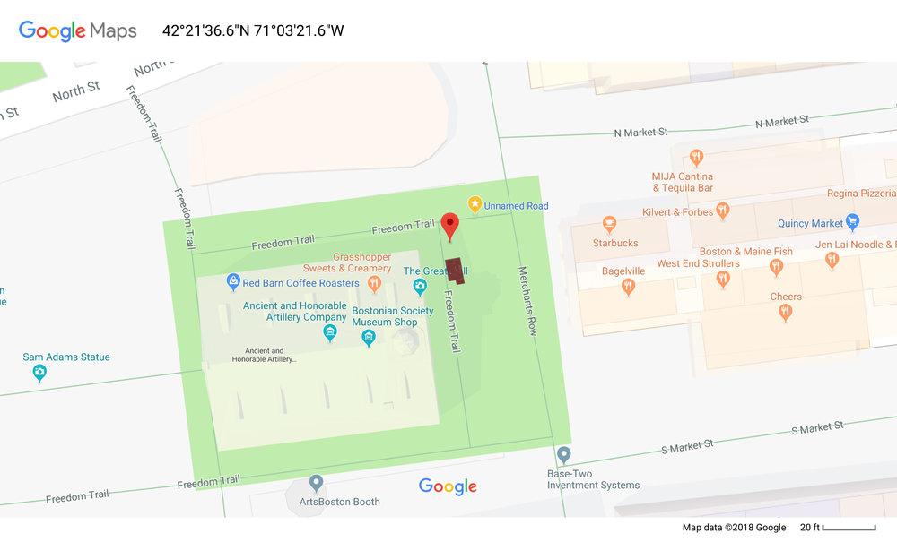 Proposed location of Memorial