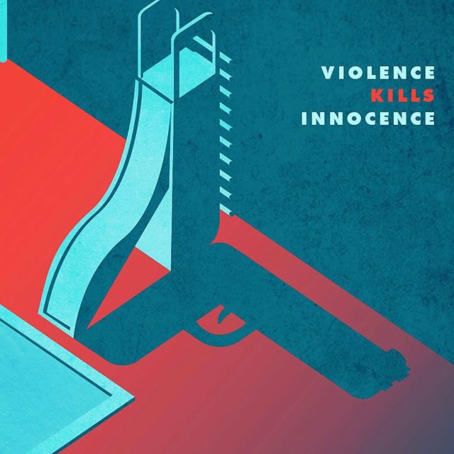 Violence kills Innocence  #gunviolenceawareness  #gunviolence  #illustration #art #artdirection #posterdesign #conceptual #sketch #gallery #illustrator #artwork #graphic #design