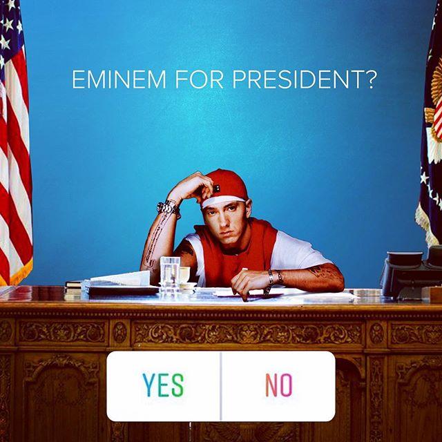 Marshall Mathers for President 2020. #EMINEM #BET #BETCypher #SlimShady