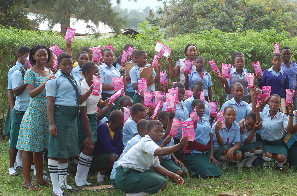 We provide AFRIPads - reusable, washable sanitary pads - that enable African girls to stay in school