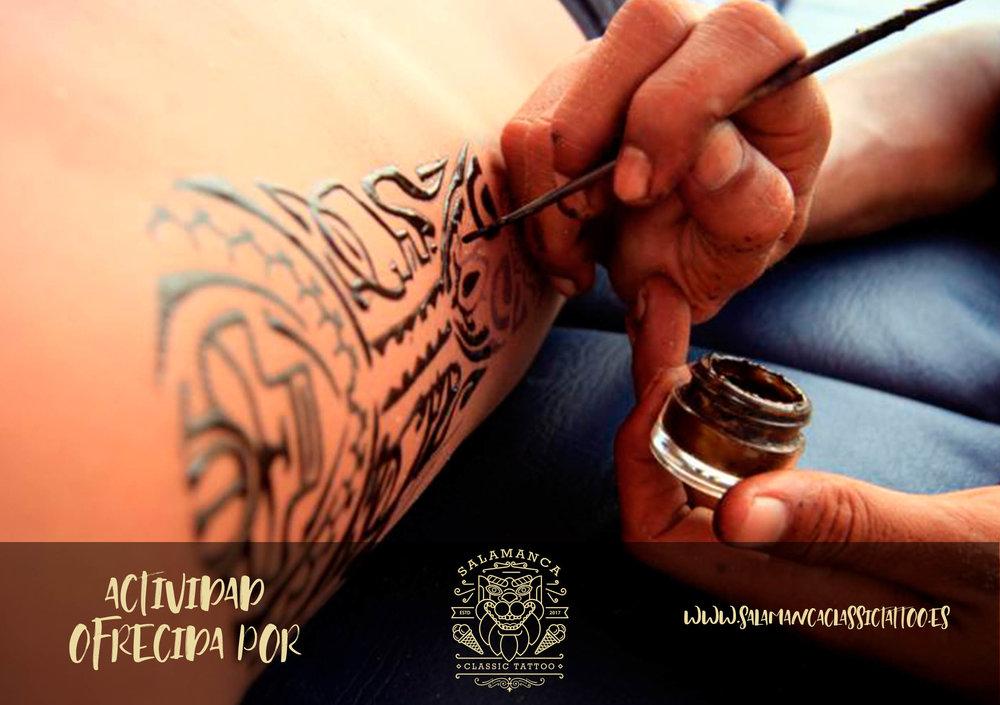 TATOO TEMPORAL by SALAMANCA CLASSIC TATTOO   ¿Quieres lucir un tribal de moda, y aprender de los mejores tatuadores de Salamanca? Acércate a nuestra carpa donde podrás hacerte un tatoo temporal totalmente gratis...¡ Mucha tinta=mucha diversión GRACIAS A NUESTROS AMIGOS DE SALAMANCA CLASSIC TATOO!