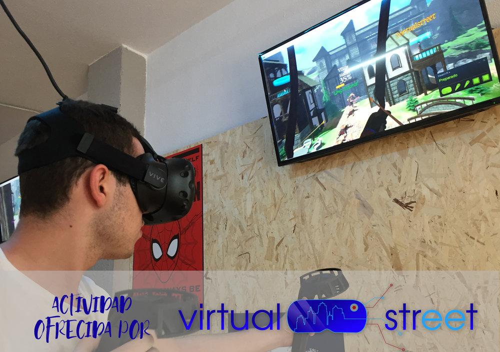 REALIDAD VIRTUAL by VIRTUAL STREET   Disfruta en nuestros puestos de juego una experiencia de realidad virtual que te sumergirá en los mejores juegos y con la tecnología inmersiva más actual. Sumérgete en un mundo espectacular, GRACIAS A NUESTROS AMIGOS DE VIRTUAL STREET