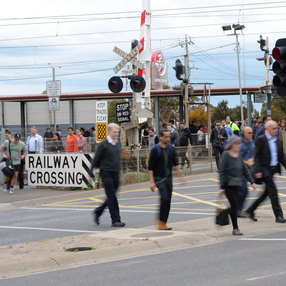 Old Geelong Rd level crossing removal -