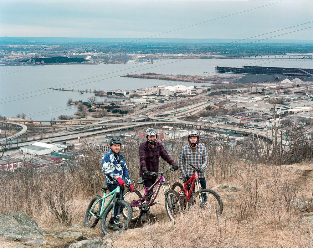 Riders above Duluth, Minnesota