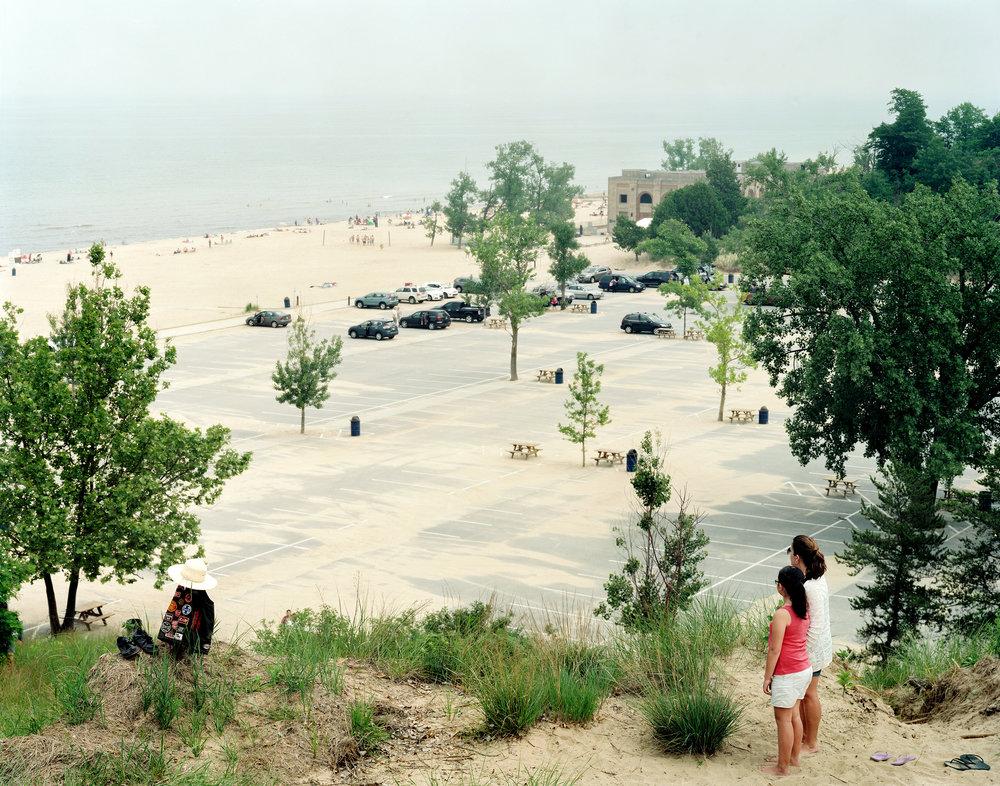 Overlook Along Lake Michigan, Indiana Dunes Seashore