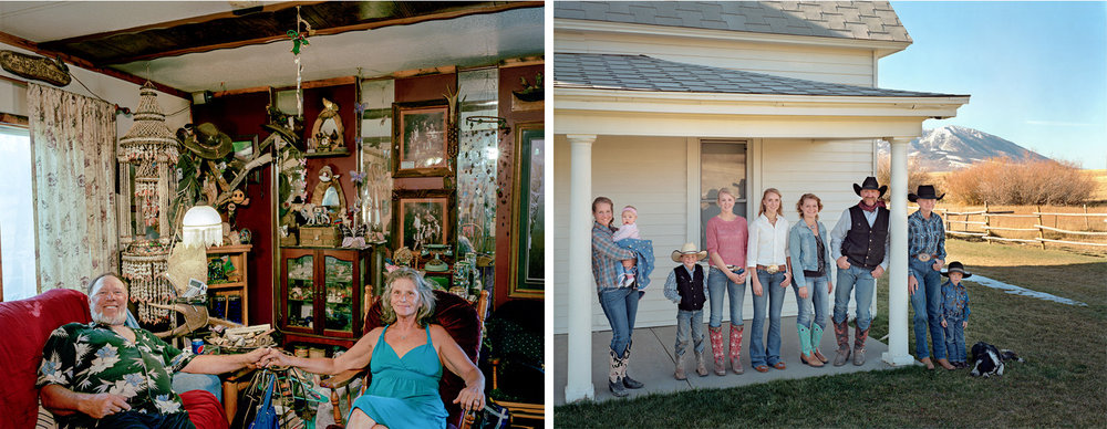 Kimatha and Dennis Bame  /  Cooke Family, Carbon County, Wyoming  on exhibit at Ilon Art Gallery