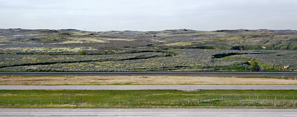 Interstate 90 and Tracks, Gillette, Wyoming