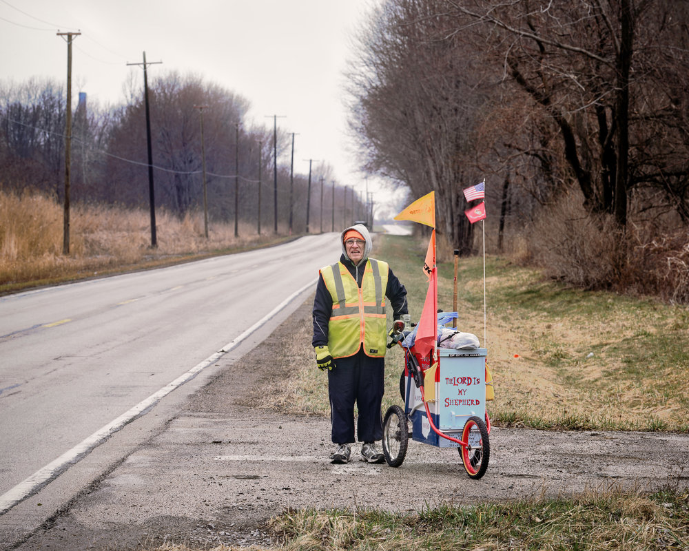 "Arthur ""The Ohio Walker"" Dunn, near Ashtabula, Ohio"