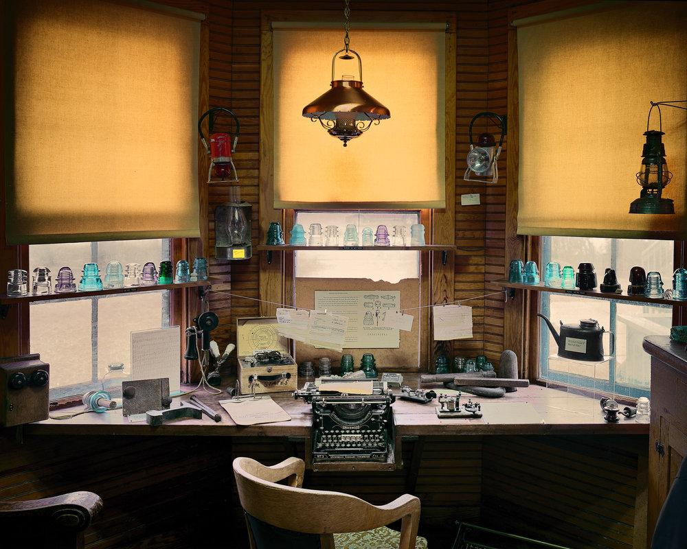 Station Master's Desk, Saratoga, Wyoming