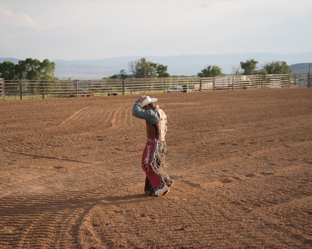 Bull Rider, Brush Creek Ranch, Wyoming