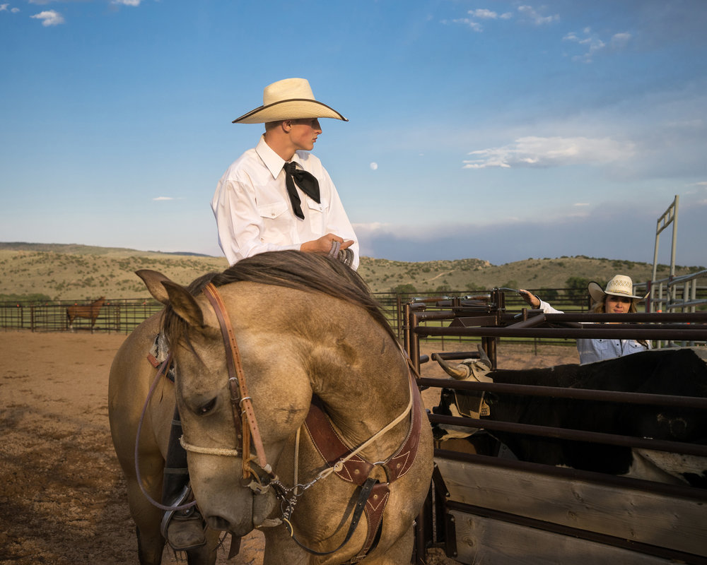 Rodeo Moonrise, Brush Creek Ranch, Wyoming