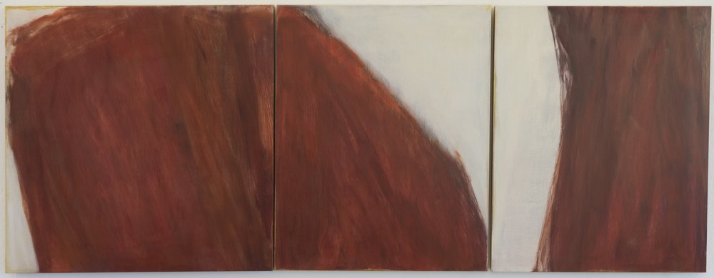 Untitled 2015 triptych 30 x 78in oil on wood panel photo: Sasha Schell