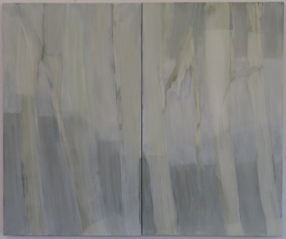 Untitled 2013 diptych 50 x 60in oil on linen photo: Sasha Schell