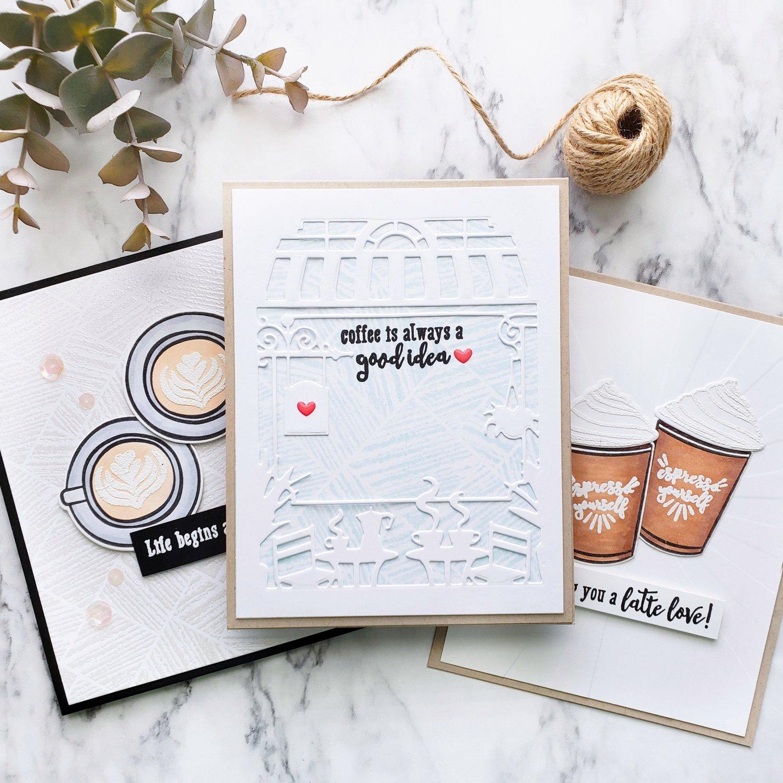 Coffee Greetings Cards Cardsandcraftsbyyaz