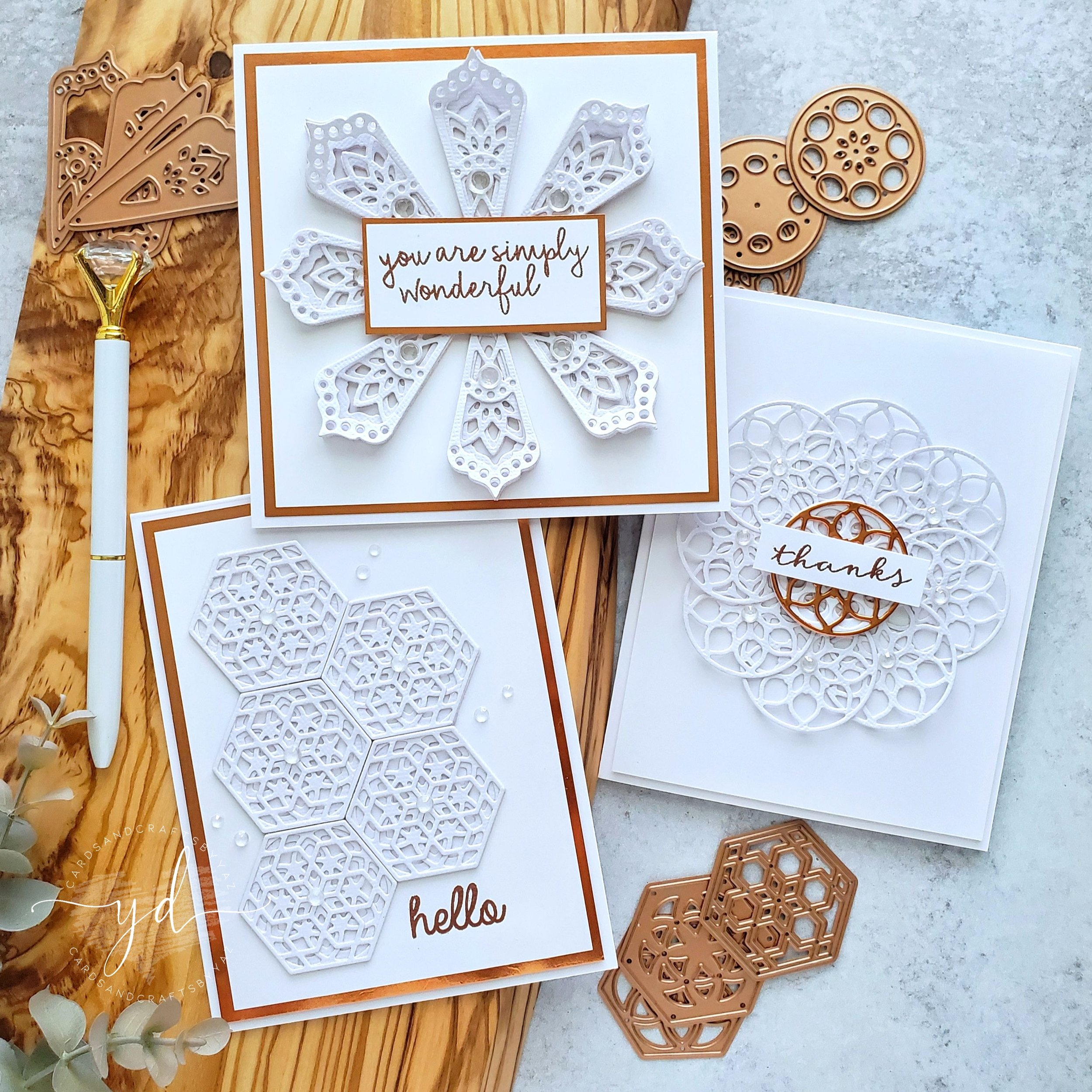 Spellbinders June 2019 Small Die of the Month Kaleidoscope Trio