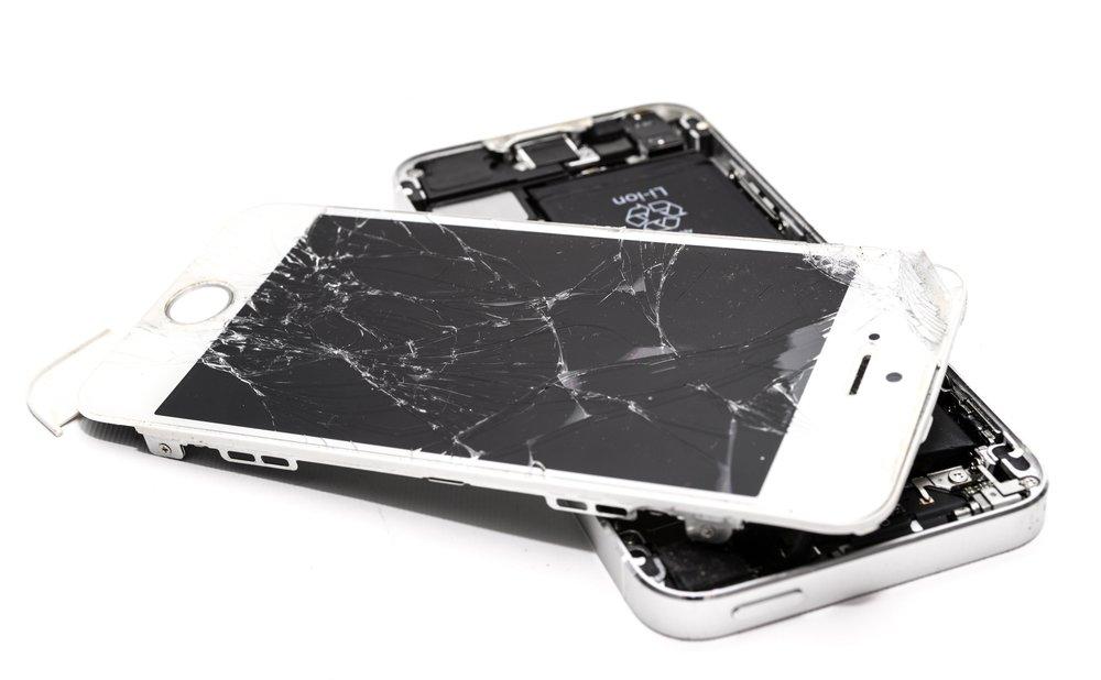 Broken Smartphone Before BadApple Repairs Fix