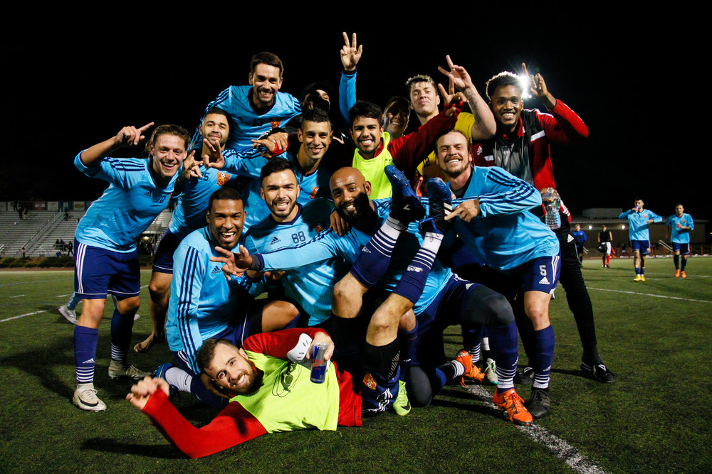 Somerville, MA: Safira FC defeated Boston City FC 4-1 in a 2019 Lamar Hunt U.S. Open Cup game on October 20, 2018. (c) Burt Granofsky