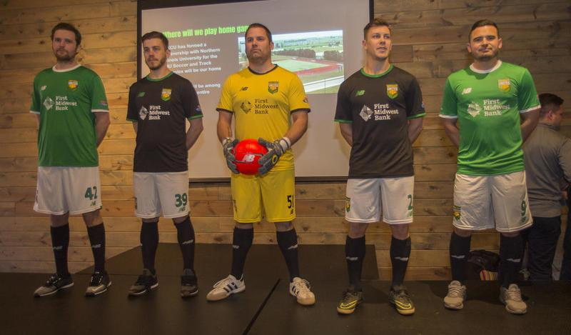 DeKalb County United unveil their kits (photo from DeKalb Daily Chronicle)