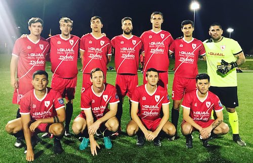 Starting XI from a January friendly. Image courtesy of  Temecula FC Twitter .