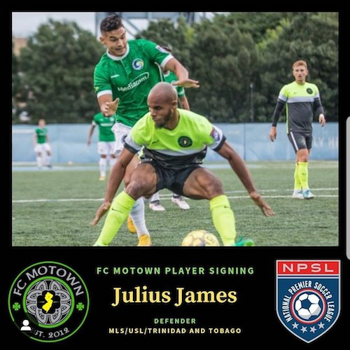 Julius James returns, bringing a wealth of experience. Image courtesy of  FC Motown .