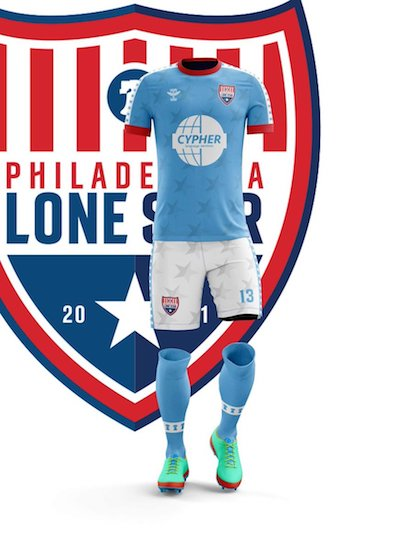 Lone Star's rebrand and new kit design blew it out of the water. Image courtesy of  Philadelphia Lone Star.
