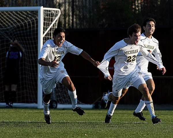 Matt Schmitt played his college soccer with Michigan. Image provided by Muskegon Risers.