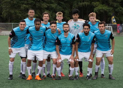The Victory pose before an EPLWA League Match (Photo: Courtesy Vancouver Victory)