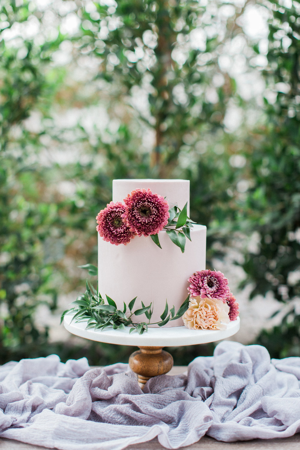 Mauve and Lavender Modern Wedding Inspiration - Cake