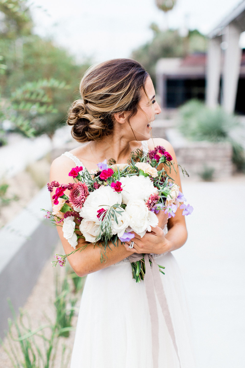 Mauve and Lavender Modern Wedding Inspiration - Bridal Style