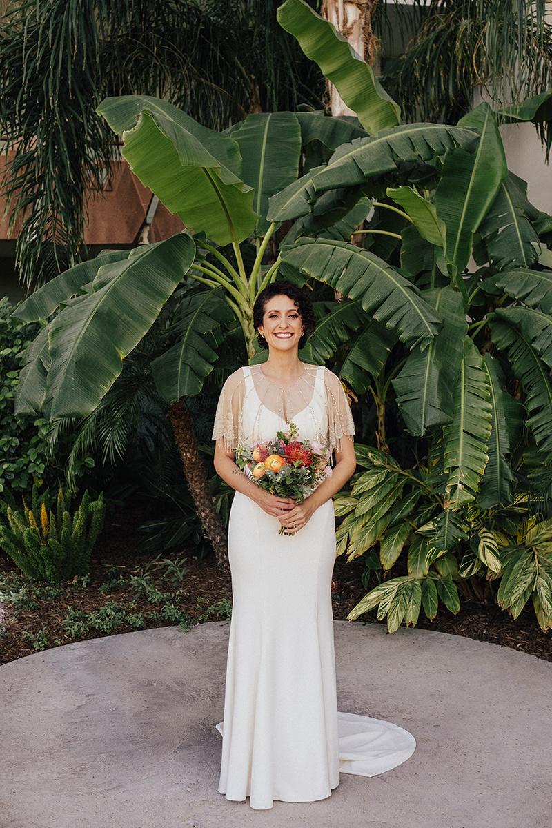 Bright, Mid-Century Modern Tropical Wedding Inspiration - Bridal Style BHLDN
