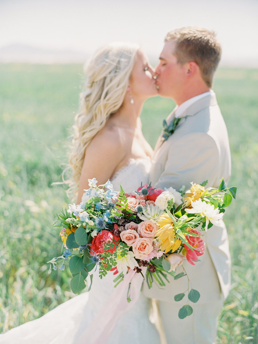 Dairy Farm Wedding - Pastel Bouquet