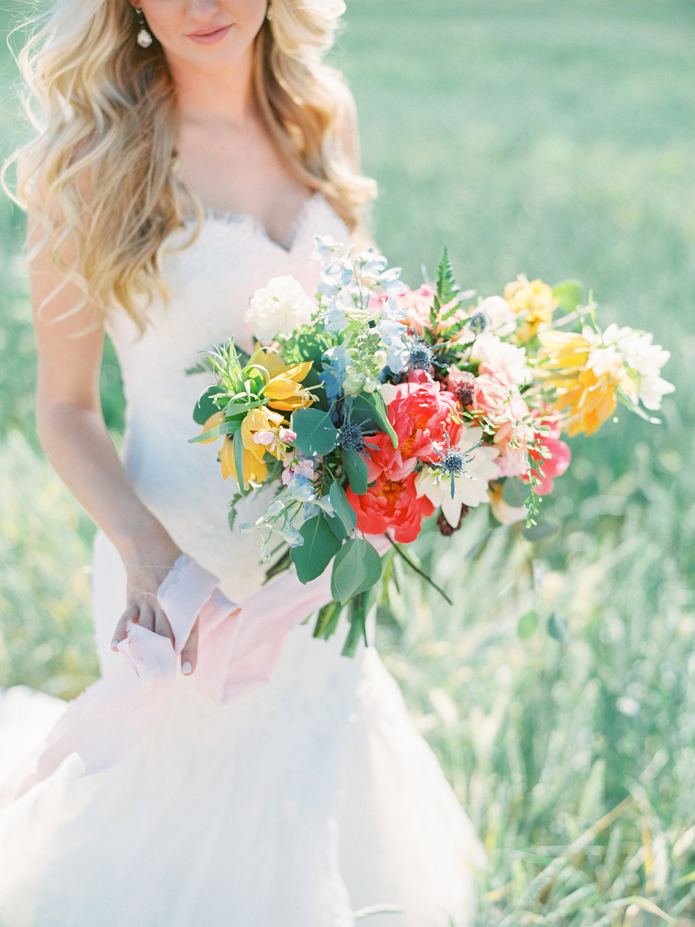 Dairy Farm Wedding - Spring Bridal Bouquet Inspiration
