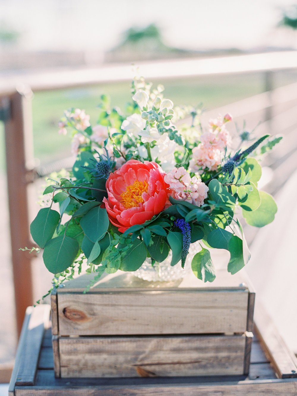 Dairy Farm Wedding - Welcome Arrangement
