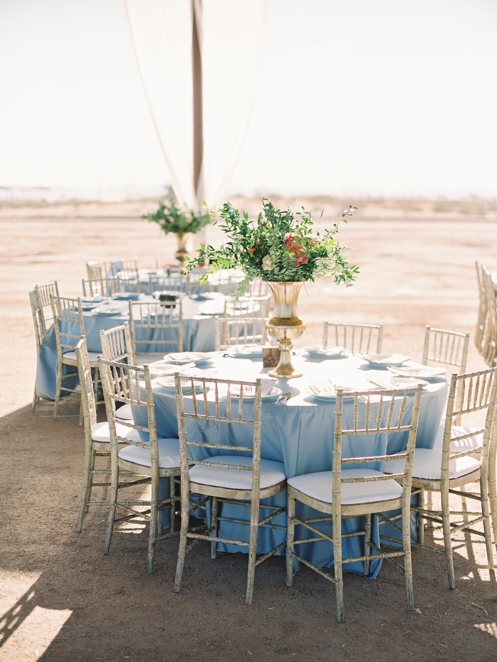 Dairy Farm Wedding - Round Table Reception Inspiration