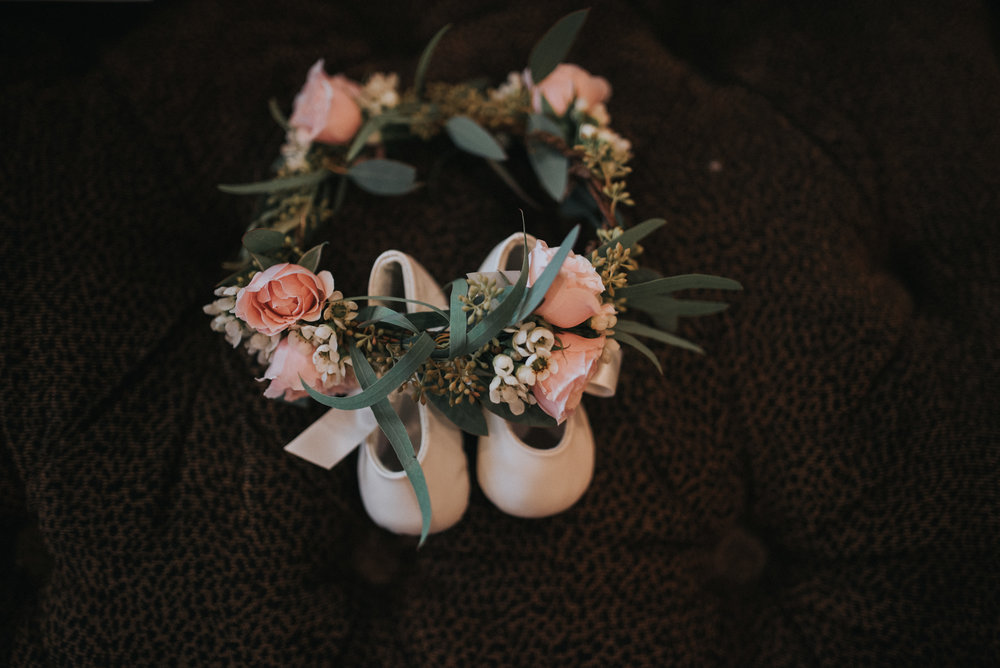 Moody, Romantic Arizona Wedding - Flower Girl Crown
