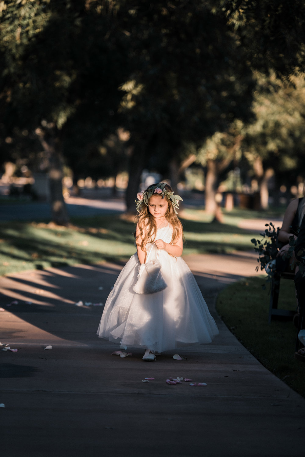 Moody, Romantic Arizona Wedding - Flower Girl