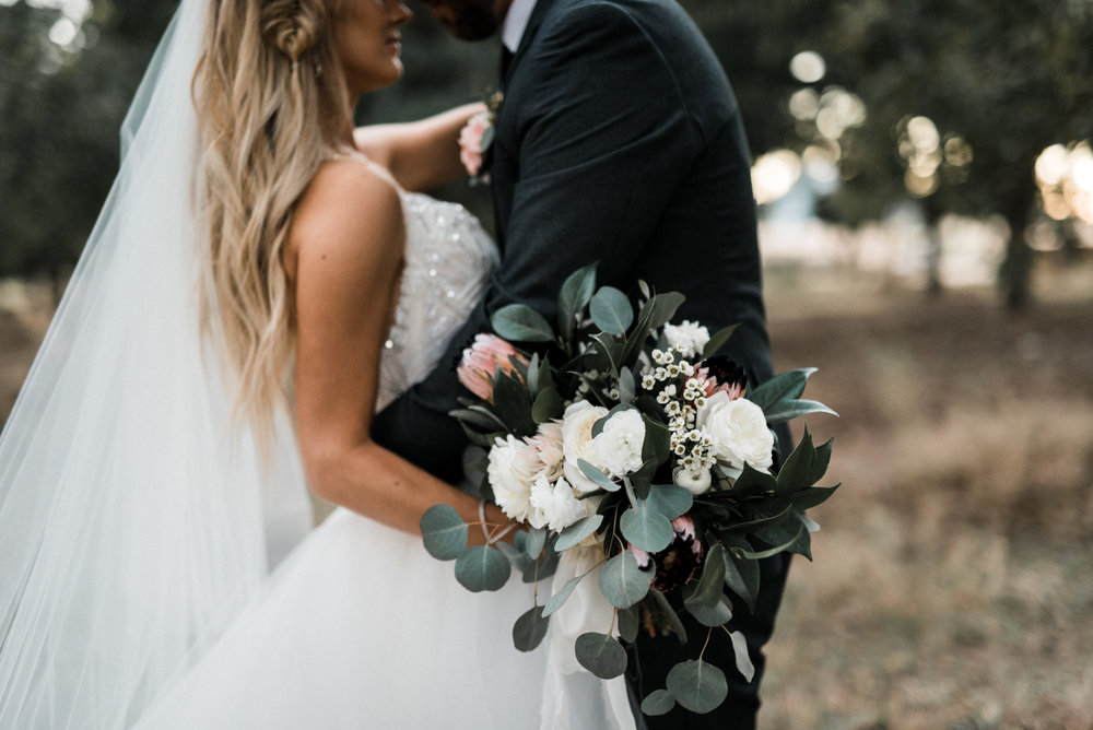 Moody, Romantic Arizona Wedding - Bride and Groom
